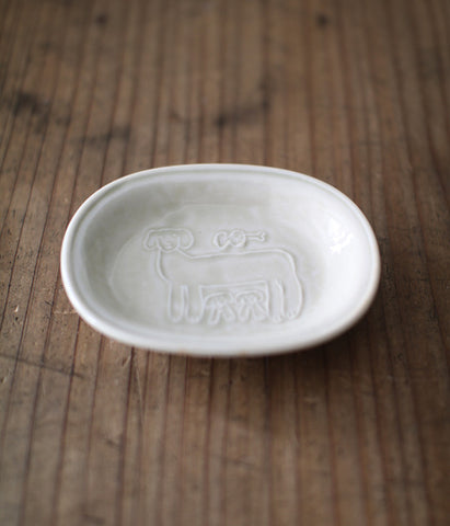 TORANEKO BON BON Mini Ceramic Dish {Dog}