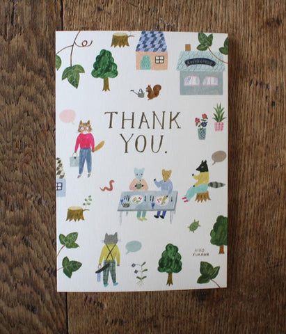 AIKO FUKAWA Folded Thank you Card {Village}