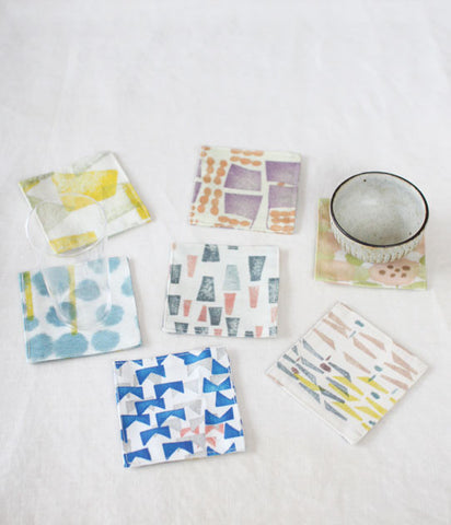 iloito small fabric coasters