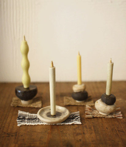 E.R.P.P Ceramic Candle Stands