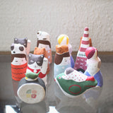 Hariko Paper Figurine {Cat & Girl}
