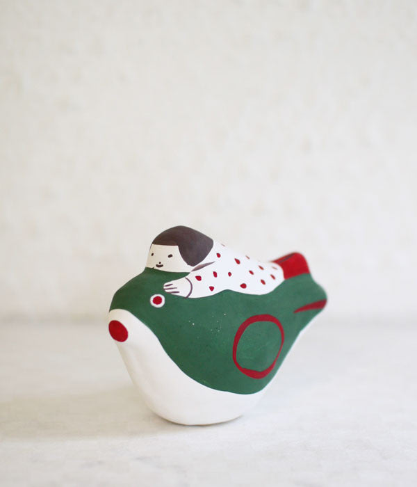 Hariko Paper Figurine {Bird & Girl}