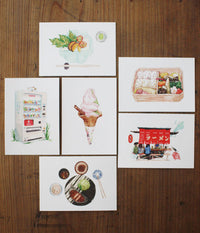 Justine Wang 21 Days in Japan Illustrated Postcards