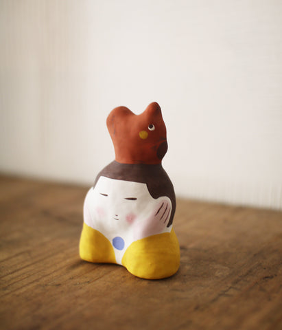 Hariko Paper Figurine {Girl & Squirrel}