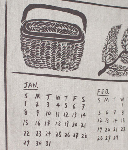 fog linen work Calendar Kitchen Towel 2017 {Basket}