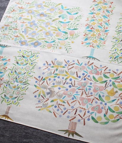 HARVEST handkerchief {block trees}