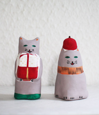 [SOLD OUT] Hariko Japanese Paper Figurine {Grey Cat}