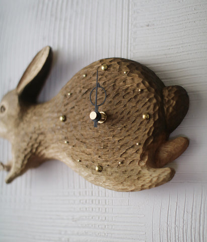 Wild Rabbit Wall Clock