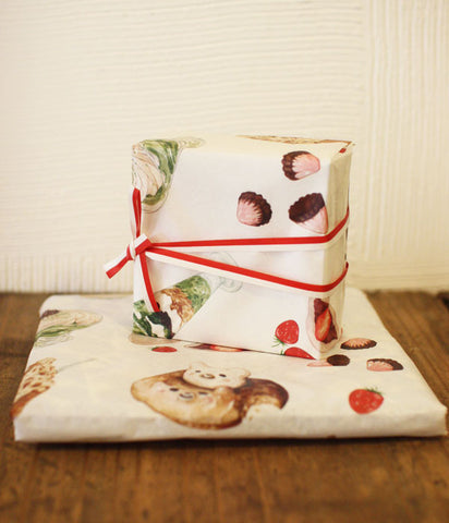 Japanese Sweets Illustrated Wrapping paper