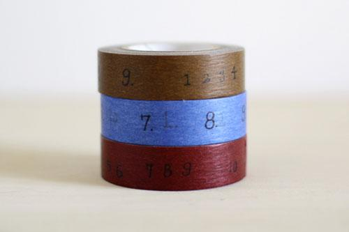 Craft Log Masking Tapes (pack of 3)