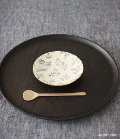 YAMANOBE Aya Mini Ceramic Plate {Blue Series}