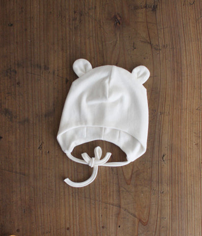 fog linen work Organic Cotton Baby Pilot Hat