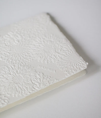 Chrysanthemum Embossed Washi Greeting Card