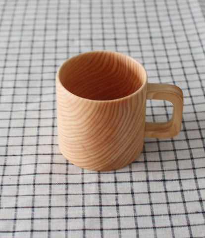 Hinoki Wooden Coffee Mug (new)