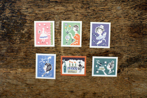 Mihoko Seki Stamp Stickers