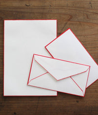 Colour Rimmed Washi Letter Set {Red}