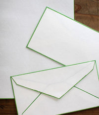 Colour Rimmed Washi Letter Set {Green}