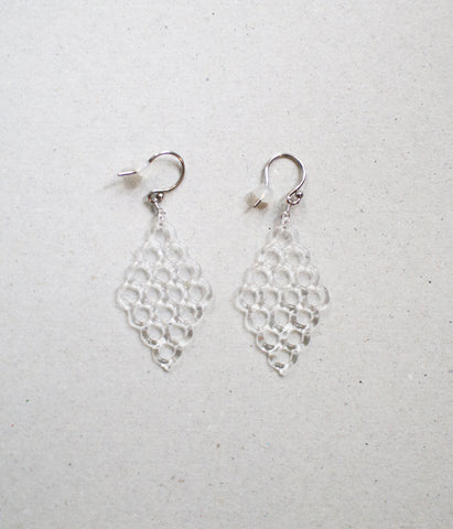 HARRYS Rhombus Glass Earrings