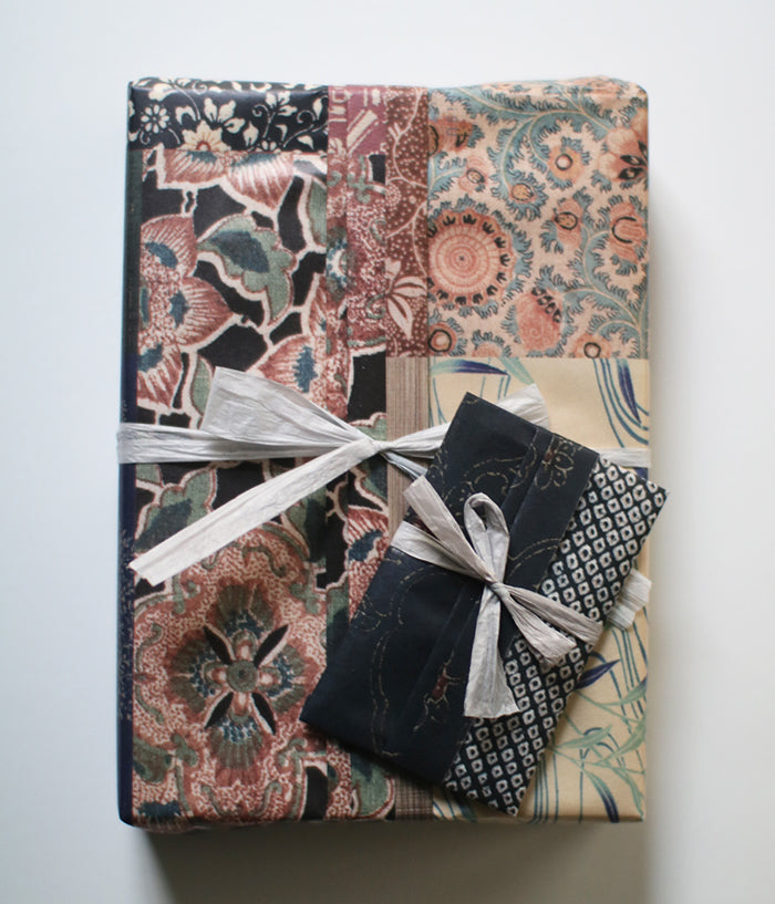 Vintage kimono patterns wrapping paper B