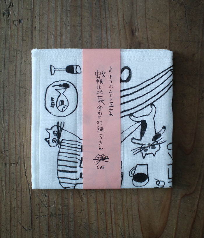 TORANEKO BON BON Cat Dishcloth