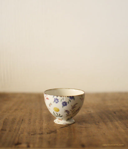 [SOLD OUT] YAMANOBE Aya Ceramic Mini Cup Round {Colourful Flowers)