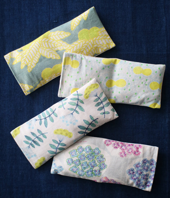 Warm Eye Pillow with Japanese Forest Mist {Yellow Butterflies}