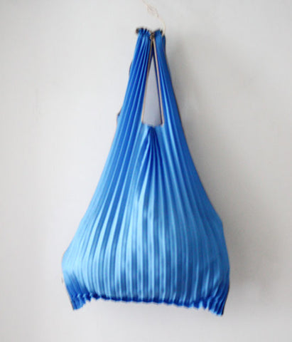 Kna Plus Pleated Eco-Bag Small {Blue}