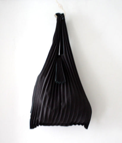 [Backorder] Kna Plus Pleated Eco-Bag Small {Black}