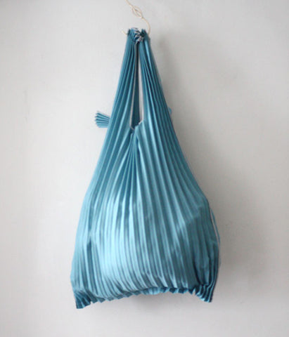 [Backorder] Kna Plus Pleated Eco-Bag Small {Blue Grey} (will be shipped mid April)