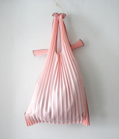 [Backorder] Kna Plus Pleated Eco-Bag Small {Pink} (will be shipped mid April)