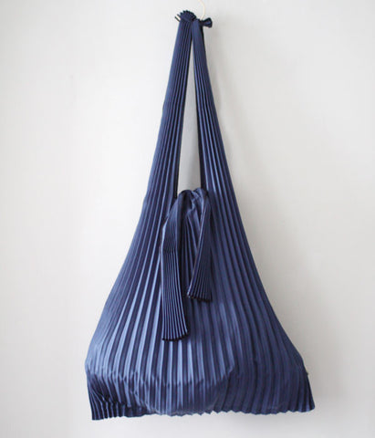 Pleated Eco-Bag Large {Navy}
