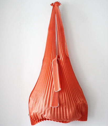 Pleated Eco-Bag Large {Orange}