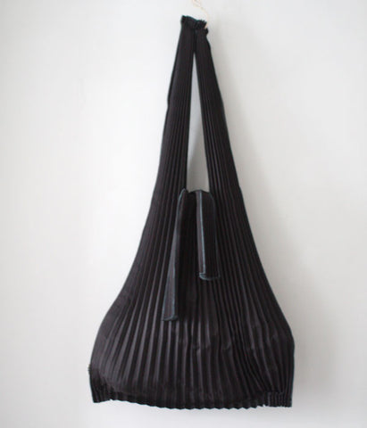 [Backorder] Pleated Eco-Bag Large {Black}
