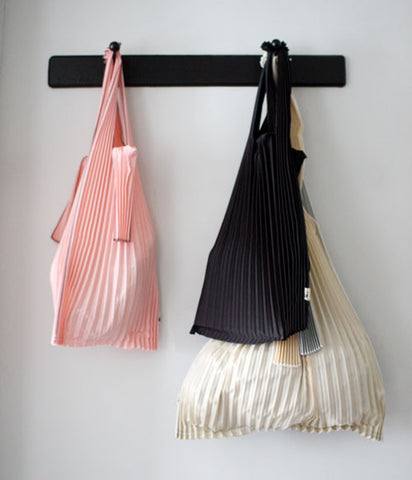 Pleated Eco-Bag Small {Black}
