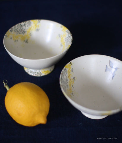 SOLD OUT - Aya Yamanobe Ceramic Bowl Small {Yellow Flower & Bird}