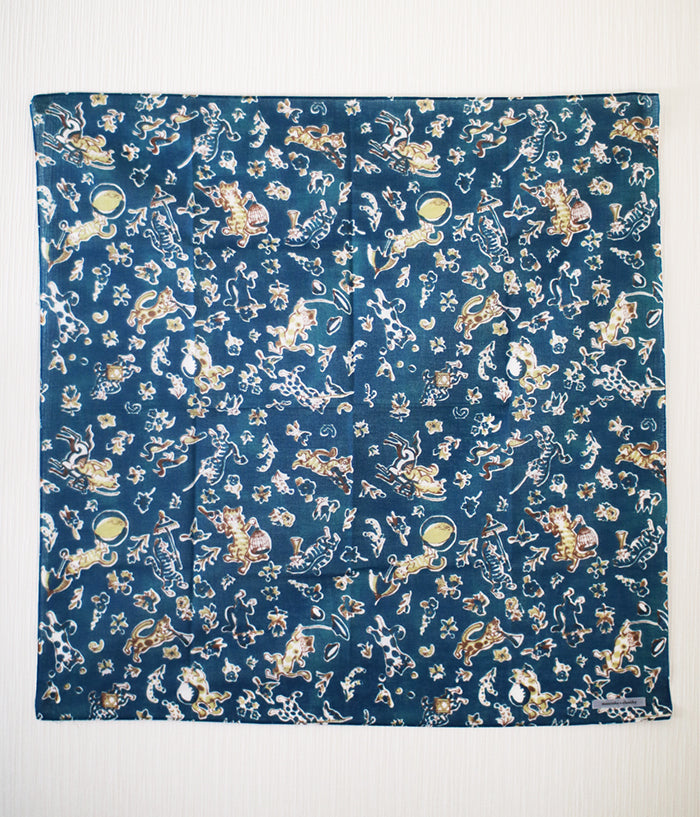 'Cats Parade' Cotton Gauze Bandana / Furoshiki