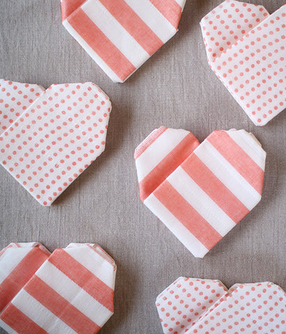 Dot & Stripe Heart Dishcloth