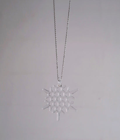 Frost Long Glass Necklace