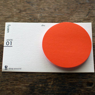 "Drop Around ""fusen"" Sticky Notes {01: Red / Round}"