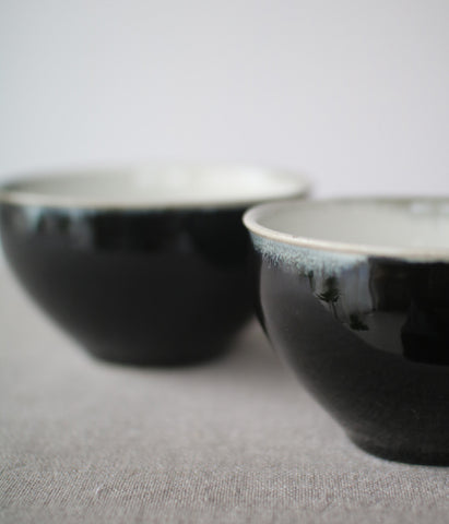 Gunji Pottery Black Soup Mug