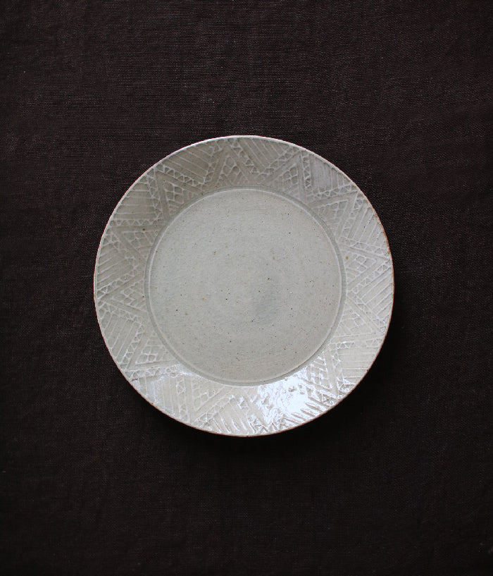 "Hump Moulded Medium Plate Geometric/Dot Patterns (18cm/7.3"")"