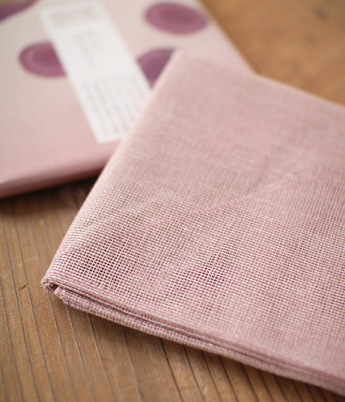 Vegetable Dyed Hana-Fukin Kitchen Cloth {Red Potato}