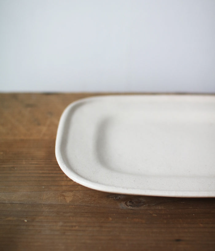 Gunji Pottery White Square Plate