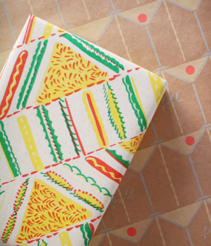 Natsuko Kozue A3 Wrapping Paper {Sandwich & Cocktail}