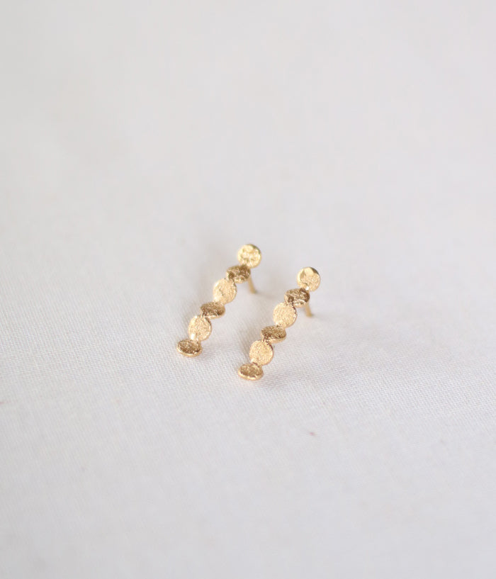 "Jona ""tenten futaba line"" Stud Earrings"