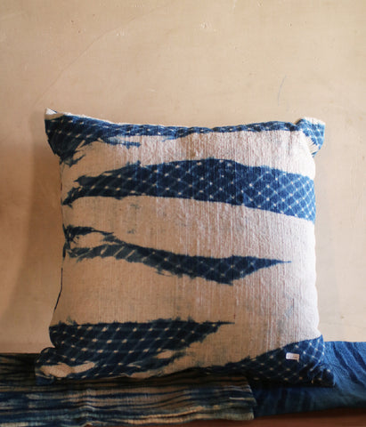 Aizome Indigo Dyed Cushion Cover