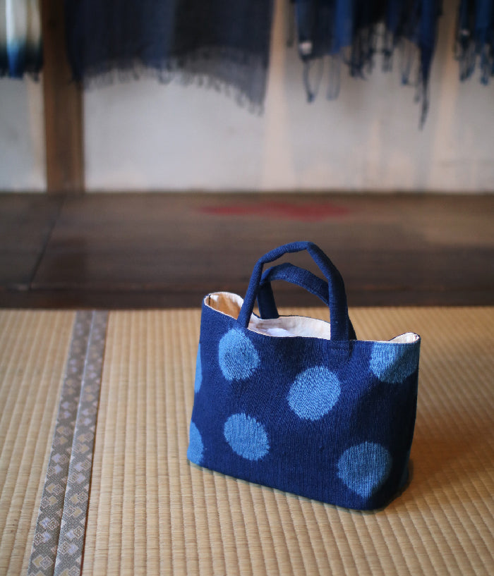 Aizome Indigo Dyed Cotton Bag