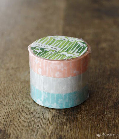 Ten-to-sen Washi Tape 3 Roll Set {Little Flowers}