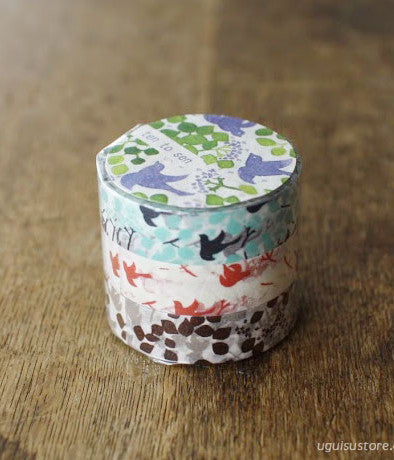 [SALE] Ten-to-sen Washi Tape 3 Roll Set {Message Bird}