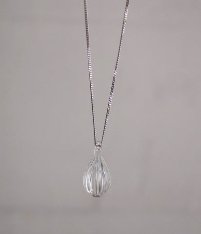 Petit Teardrop Glass Necklace